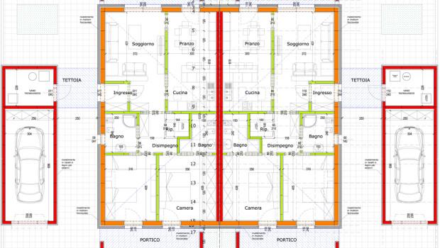 Residenziale archivi worma case in legno ferrara - Pianta casa bifamiliare ...